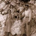 Lester & Bea with his sister Daphene & children in Oklahoma 1955-5