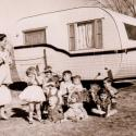 Bea with kids at her mothers house 1957-4