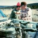 Terry & Lester repairing the truck 1986-7